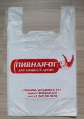 Пакет майка с печатью логотипа